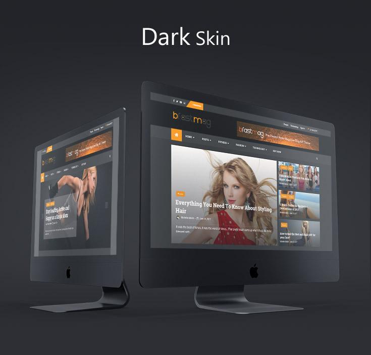 News WP Theme Dark skin