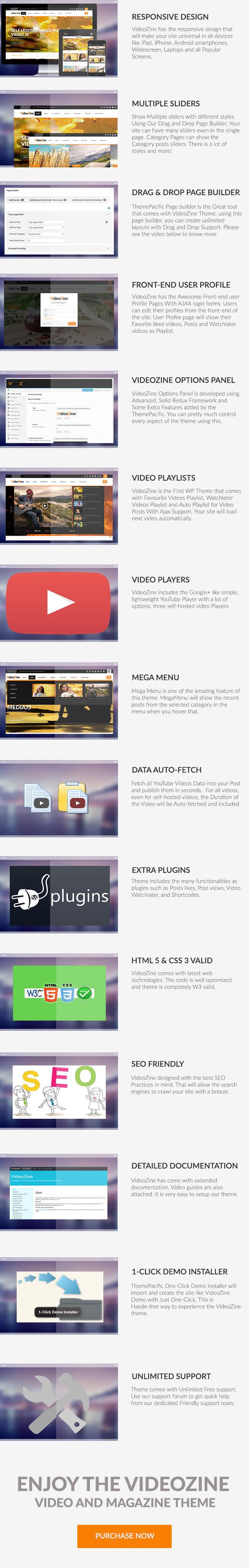 VideoZine - Video and Magazine WordPress Theme