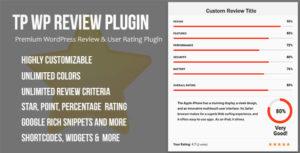 TP WordPress Review & User Rating Plugin